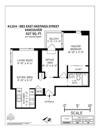 """Photo 16: 1104 983 E HASTINGS Street in Vancouver: Hastings Condo for sale in """"STRATHCONA VILLAGE - RAYMUR"""" (Vancouver East)  : MLS®# R2294628"""