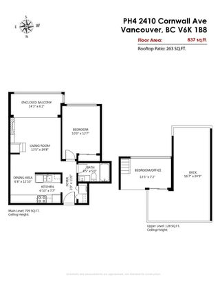 """Photo 30: PH4 2410 CORNWALL Avenue in Vancouver: Kitsilano Condo for sale in """"Spinnaker"""" (Vancouver West)  : MLS®# R2465587"""