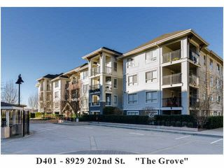 "Photo 1: D401 8929 202ND Street in Langley: Walnut Grove Condo for sale in ""THE GROVE"" : MLS®# F1428782"