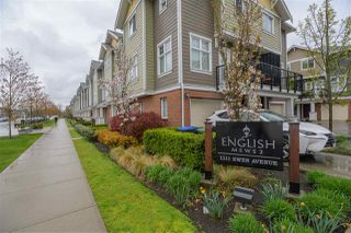 "Photo 1: 34 1111 EWEN Avenue in New Westminster: Queensborough Townhouse for sale in ""ENGLISH MEWS"" : MLS®# R2359101"