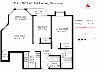 "Photo 12: 312 2057 W 3RD Avenue in Vancouver: Kitsilano Condo for sale in ""SAUSALITO"" (Vancouver West)  : MLS®# V1064184"
