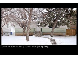 Photo 1: 3040 29 Street SW in CALGARY: Killarney Glengarry Residential Detached Single Family for sale (Calgary)  : MLS®# C3500737