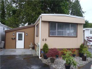 "Photo 1: 40 4200 DEWDNEY TRUNK Diversion in Coquitlam: Ranch Park Manufactured Home for sale in ""HideAway Park"" : MLS®# V923597"