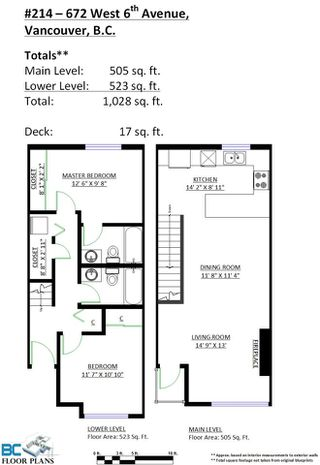 """Photo 20: 214 672 W 6TH Avenue in Vancouver: Fairview VW Townhouse for sale in """"BOHEMIA"""" (Vancouver West)  : MLS®# R2080724"""