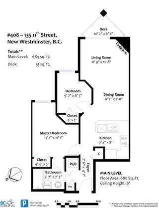 """Photo 18: 408 135 ELEVENTH Street in New Westminster: Uptown NW Condo for sale in """"QUEENS TERRACE"""" : MLS®# R2445118"""