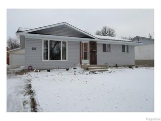 Photo 1: 22 Galbraith Crescent in WINNIPEG: Westwood / Crestview Residential for sale (West Winnipeg)  : MLS®# 1530607