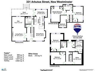 Photo 20: 331 ARBUTUS Street in New Westminster: Queens Park House for sale : MLS®# V1101805