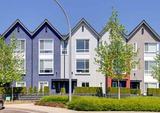 "Photo 1: 67 2310 RANGER Lane in Port Coquitlam: Riverwood Townhouse for sale in ""FREMONT BLUE"" : MLS®# R2267327"