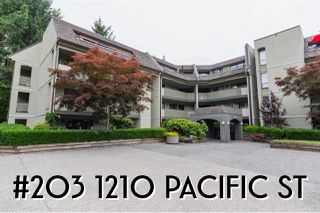 "Main Photo: 203 1210 PACIFIC Street in Coquitlam: North Coquitlam Condo for sale in ""Glenview Manor"" : MLS®# R2381481"