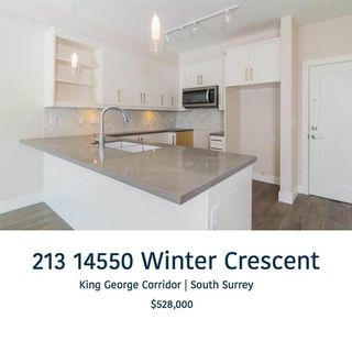 "Main Photo: 213 14550 WINTER Crescent in Surrey: King George Corridor Condo for sale in ""CRESCENDO"" (South Surrey White Rock)  : MLS®# R2341157"