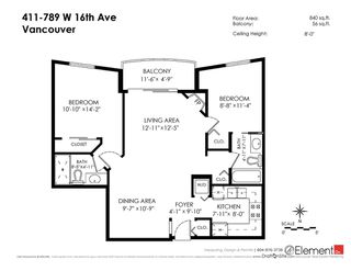 "Photo 18: 411 789 W 16TH Avenue in Vancouver: Fairview VW Condo for sale in ""SIXTEEN WILLOWS"" (Vancouver West)  : MLS®# R2076359"