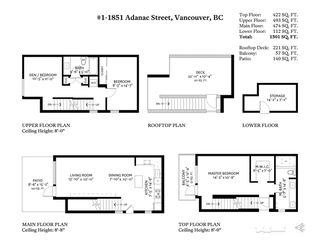 "Photo 20: 1 1851 ADANAC Street in Vancouver: Grandview VE Townhouse for sale in ""THE ADANAC"" (Vancouver East)  : MLS®# R2333580"