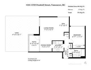 """Photo 16: 101 1725 PENDRELL Street in Vancouver: West End VW Condo for sale in """"STRATFORD PLACE"""" (Vancouver West)  : MLS®# R2351251"""