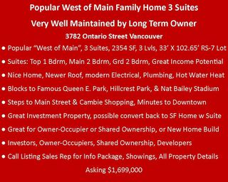 Photo 3: 3782 ONTARIO Street in Vancouver: Main House for sale (Vancouver East)  : MLS®# R2433398
