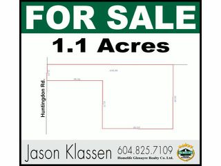 Photo 1: 29700 HUNTINGDON Road in Abbotsford: Aberdeen Land for sale : MLS®# F1415007