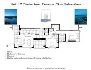 "Photo 20: 1803 277 THURLOW Street in Vancouver: Coal Harbour Condo for sale in ""Three Harbour Green"" (Vancouver West)  : MLS®# R2376937"