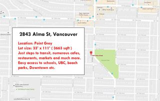 """Photo 3: 2843 ALMA Street in Vancouver: Point Grey House for sale in """"POINT GREY"""" (Vancouver West)  : MLS®# R2140488"""