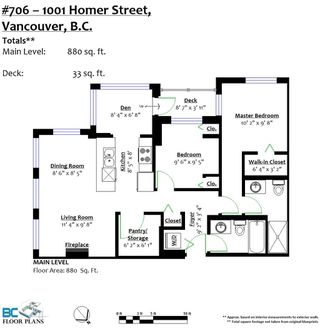 """Photo 20: 706 1001 HOMER Street in Vancouver: Yaletown Condo for sale in """"BENTLEY"""" (Vancouver West)  : MLS®# R2219801"""