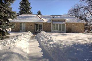 Photo 1: 419 Southport Boulevard in Winnipeg: Tuxedo Residential for sale (1E)  : MLS®# 1805555