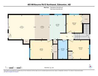 Photo 24: 403 MILLBOURNE Road E in Edmonton: Zone 29 House Half Duplex for sale : MLS®# E4193823