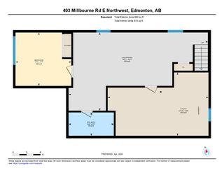 Photo 25: 403 MILLBOURNE Road E in Edmonton: Zone 29 House Half Duplex for sale : MLS®# E4193823