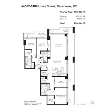 Photo 33: 4002 1480 HOWE Street in Vancouver: Yaletown Condo for sale (Vancouver West)  : MLS®# R2463556