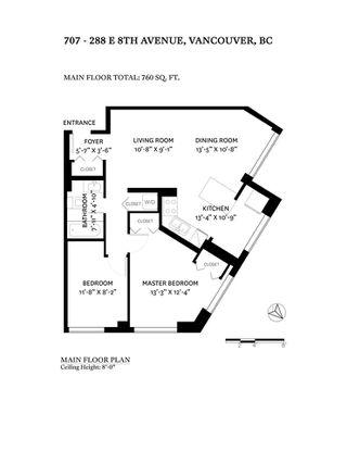 """Photo 28: 707 288 E 8TH Avenue in Vancouver: Mount Pleasant VE Condo for sale in """"METROVISTA"""" (Vancouver East)  : MLS®# R2522418"""