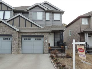 Photo 1: 3197 WHITELAW Drive in Edmonton: Zone 56 House Half Duplex for sale : MLS®# E4145136