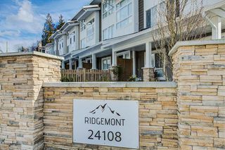 "Photo 20: 55 24108 104 Avenue in Maple Ridge: Albion Townhouse for sale in ""Ridgemont"" : MLS®# R2344120"