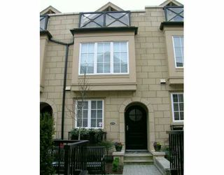 "Photo 1: 2941 LAUREL ST in Vancouver: Fairview VW Townhouse for sale in ""BROWNSTONE"" (Vancouver West)  : MLS®# V576432"