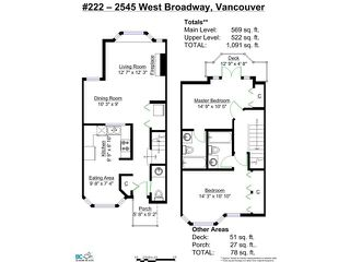 "Photo 14: 222 2545 W BROADWAY in Vancouver: Kitsilano Townhouse for sale in ""TRAFALGAR MEWS"" (Vancouver West)  : MLS®# V1097981"