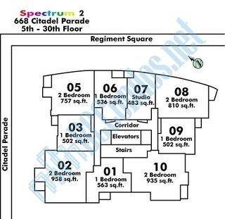 """Photo 18: 2205 668 CITADEL PARADE in Vancouver: Downtown VW Condo for sale in """"SPECTRUM"""" (Vancouver West)  : MLS®# R2128531"""