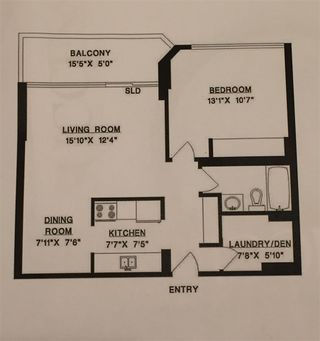 """Photo 13: 1606 4105 MAYWOOD Street in Burnaby: Metrotown Condo for sale in """"TIMES SQUARE"""" (Burnaby South)  : MLS®# R2178631"""