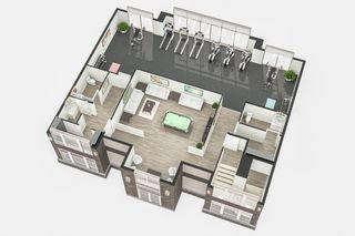 Photo 6: Gorgeous corner unit with wrap around balcony. 1 Underground parking stall included. Pet friendly building.