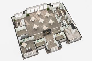 Photo 4: Gorgeous corner unit with wrap around balcony. 1 Underground parking stall included. Pet friendly building.