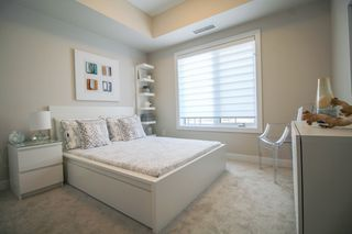 Photo 15: Gorgeous corner unit with wrap around balcony. 1 Underground parking stall included. Pet friendly building.