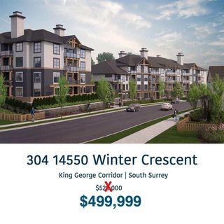 "Main Photo: 304 14550 WINTER CRESCENT in Surrey: Queen Mary Park Surrey Condo for sale in ""CRESCENDO BUILDING 1"" : MLS®# R2365754"