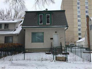 Photo 1: 909 Alverstone Street in Winnipeg: West End Residential for sale (5C)  : MLS®# 1730664