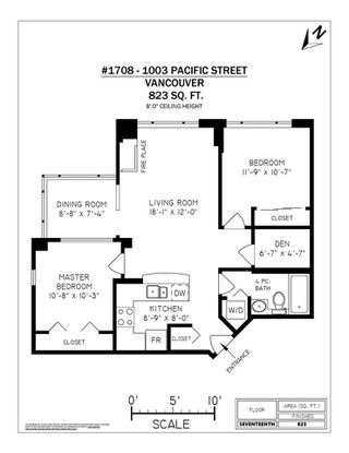 "Photo 20: 1708 1003 PACIFIC Street in Vancouver: West End VW Condo for sale in ""SEASTAR"" (Vancouver West)  : MLS®# R2306531"