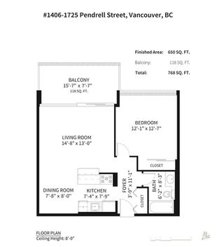 """Photo 16: 1406 1725 PENDRELL Street in Vancouver: West End VW Condo for sale in """"STRATAFORD PLACE"""" (Vancouver West)  : MLS®# R2335662"""