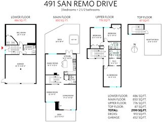 Photo 20: 491 SAN REMO Drive in Port Moody: North Shore Pt Moody House for sale : MLS®# R2073046