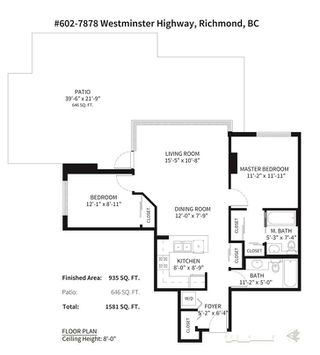 """Photo 13: 601 7878 WESTMINSTER Highway in Richmond: Brighouse Condo for sale in """"The Wellington"""" : MLS®# R2232431"""