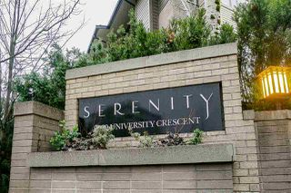 "Photo 3: 100 9229 UNIVERSITY Crescent in Burnaby: Simon Fraser Univer. Townhouse for sale in ""SERENITY"" (Burnaby North)  : MLS®# R2329232"