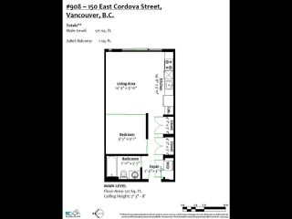 "Photo 25: 908 150 E CORDOVA Street in Vancouver: Downtown VE Condo for sale in ""IN GASTOWN"" (Vancouver East)  : MLS®# R2519943"