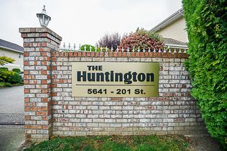 "Main Photo: 107 5641 201 Street in Langley: Langley City Townhouse for sale in ""Huntington"" : MLS®# R2222255"
