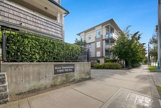 "Photo 1: 137 13958 108 Avenue in Surrey: Whalley Townhouse for sale in ""AURA TOWNHOMES"" (North Surrey)  : MLS®# R2379555"