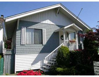 """Photo 1: 2939 MCGILL ST in Vancouver: Hastings East House for sale in """"N/A"""" (Vancouver East)  : MLS®# V588209"""