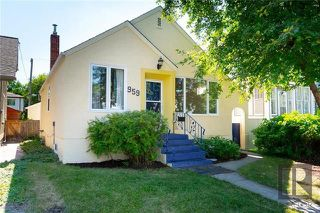 Photo 1: 959 Banning Street in Winnipeg: Residential for sale (5C)  : MLS®# 1820077