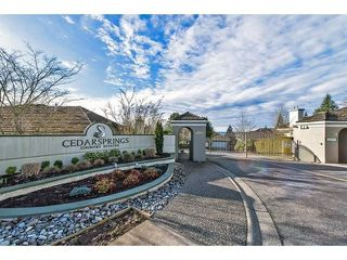 """Photo 14: 82 4001 OLD CLAYBURN Road in Abbotsford: Abbotsford East Townhouse for sale in """"Cedar Springs"""" : MLS®# R2222857"""