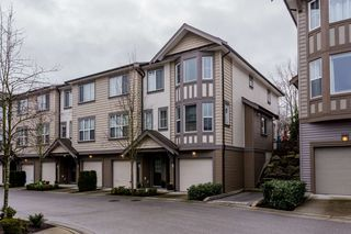 "Photo 1: 77 14838 61 Avenue in Surrey: Sullivan Station Townhouse for sale in ""Sequoia"" : MLS®# R2239071"